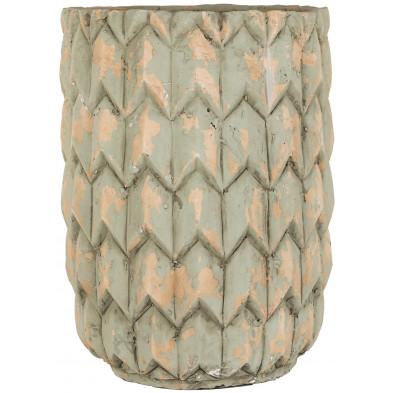 Vase vert contemporain en béton L. 31 x P. 31 x H. 41 cm  collection Amara Richmond Interiors