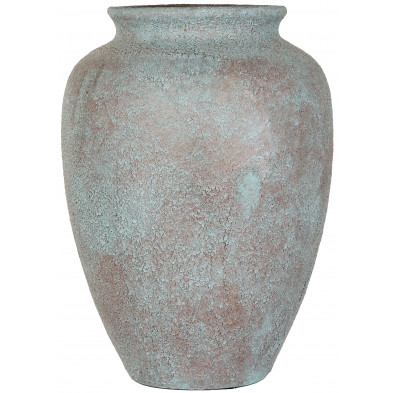 Vase bleu contemporain en céramique L. 30 x P. 30 x H. 41 cm collection Cecil Richmond Interiors