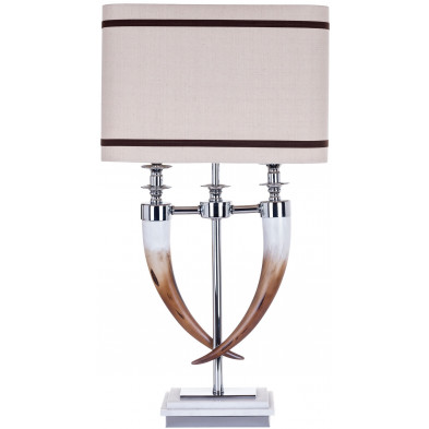 Lampe à poser argenté contemporain en aluminium L. 40 x P. 25 x H. 72 cm collection Ace Richmond Interiors