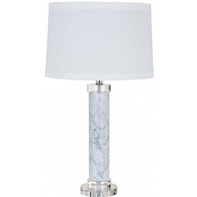 Lampe à poser blanc design en cotonL. 38 x P. 38 x H. 70 cm  collection Kane Richmond Interiors
