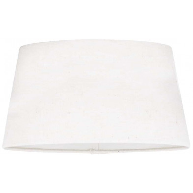 Abat-jour blanc design en coton L. 20 x P. 18 x H. 30 cm  collection Demi Richmond Interiors