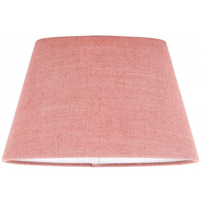 Abat-jour rose moderne en coton  L. 20 x P. 18 x H. 30 cm collection Solange Richmond Interiors