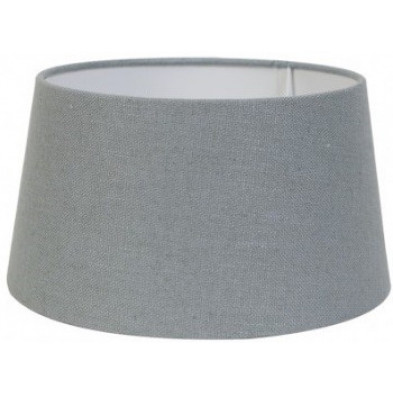 Abat-jour gris moderne en coton L. 40 x P. 27 x H. 45 cm  collection Amy Richmond Interiors