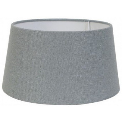 Abat-jour gris moderne en coton  L. 30 x P. 21 x H. 35 cm collection Amy Richmond Interiors