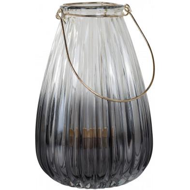 Bougeoir et chandelier blanc moderne en acier  L. 14.5 x P. 14.5 x H. 22 cm collection Lynn Richmond Interiors