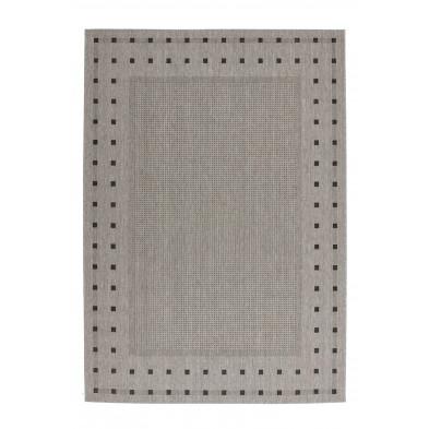 Tapis & design gris moderne tissé à la machine en polypropylène bcf L. 170 x P. 120 x H. 0,5 cm collection Allyriane