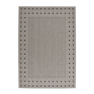 Tapis & design gris moderne tissé à la machine en polypropylène bcf L. 150 x P. 80 x H. 0,5 cm  collection Allyriane