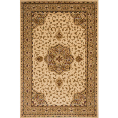 Tapis d'orient en coloris beige en polypropylène L. 290 x P. 200 x H. 1,5 cm Collection Arrest