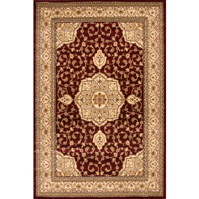 Tapis oriental marron classique tissé à la machine en polypropylène L. 300 x P. 80 x H. 1,5 cm collection Arrest