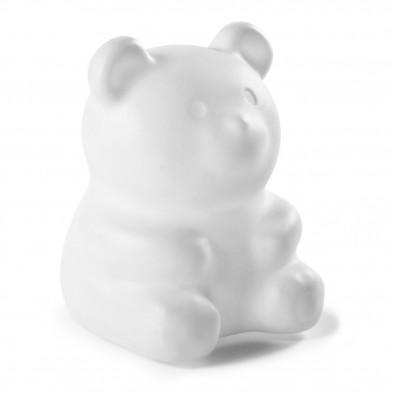 Lampe de chevet LED rechargeable  sous forme d'un panda coloris blanc L. 28 x P. 28 x H. 33 cm  collection Longformacus
