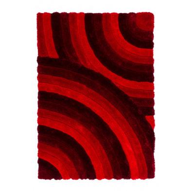 Tapis moderne shaggy noir en polyester L. 170 x P. 120 x H. 4,5 cm Collection Seashore