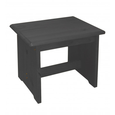 Tabouret  contemporain gris L. 42 x H. 45 cm collection Genoveffa