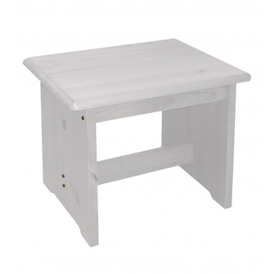 Tabouret   contemporain blanc L. 42 x H. 45 cm collection Genoveffa