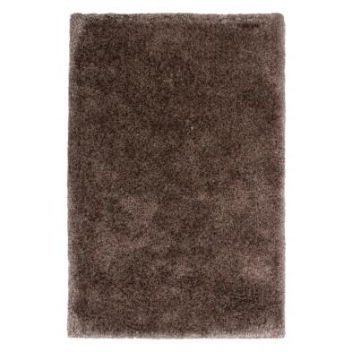 Tapis shaggy moderne coloris gris avec des motifs uni L. 290 x P. 200 x H. 5,5 cm Collection Wechsler