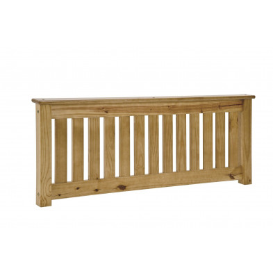 Tête de lit contemporaine marron en bois massif pin  L. 132 x P. 8,5 x H. 56 cm collection Preore