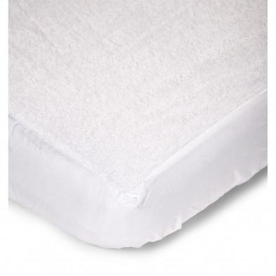Drap-housse pour parc design blanc 100% coton L. 75 x P. 95 cm Collection Termeer