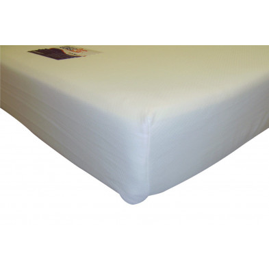 Matelas blanc contemporain en polyester 140 x 190 cm collection Carcastillo