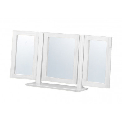 Miroir sur pied contemporain blanc L. 103 x H. 23 cm collection Genoveffa