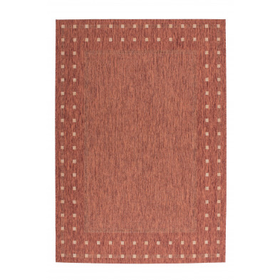 Tapis moderne rose en polypropylène bcf L. 300 x P. 60 x H. 0,5 cm Collection Allyriane