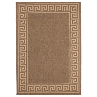 Tapis moderne marron en polypropylène bcf L. 230 x P. 160 x H. 0,5 cm Collection Ashtabula