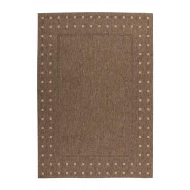 Tapis moderne marron en polypropylène bcf  L. 230 x P. 160 x H. 0,5 cm Collection Allyriane