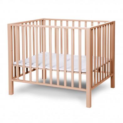 Parc pour bébé design beige en bois massif hêtre 75 x 95 cm collection Altensteig