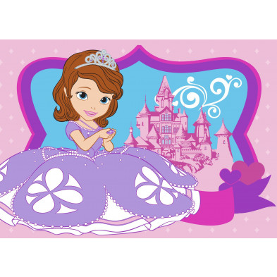 Tapis enfant Disney Sofia princesse L. 95 x H. 133 cm collection Lanquesaint