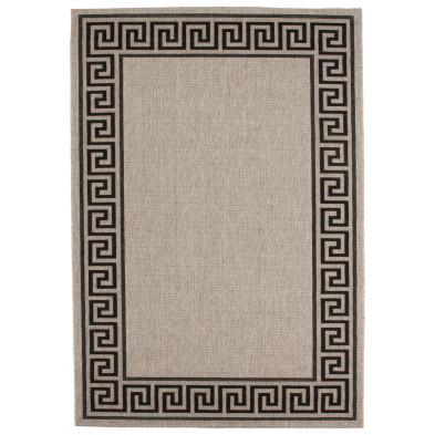 Tapis moderne gris en polypropylène bcf L. 150 x P. 80 x H. 0,5 cm Collection Ashtabula