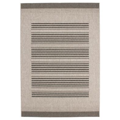 Tapis moderne gris en polypropylène bcf avec des motifs rayé L. 230 x P. 160 x H. 0,5 cm Collection Alger