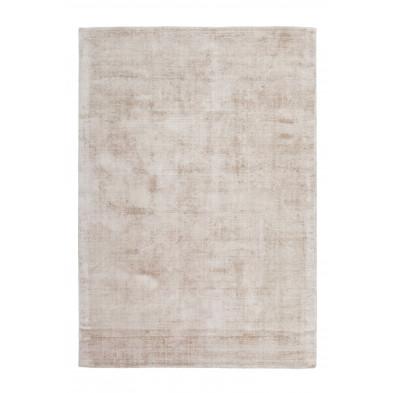 Tapis design beige en viscose avec des motifs uni L. 230 x P. 160 x H. 0,9 cm Collection Sharonna