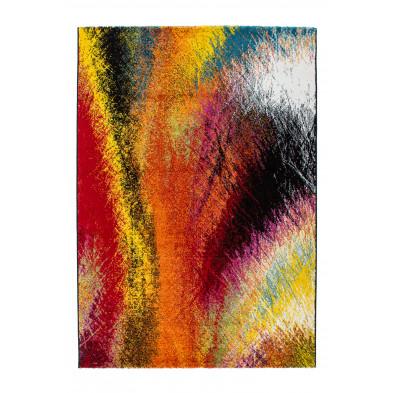 Tapis design multicouleur en polypropylène heatset frisée L. 170 x P. 120 x H. 1,5 cm Collection Monguzzo