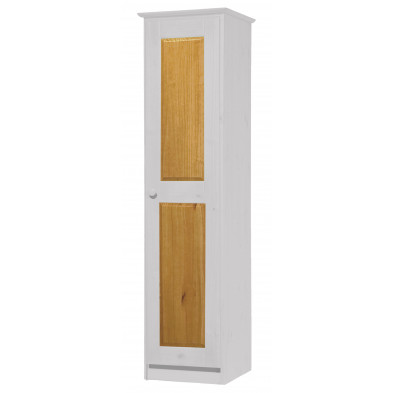 Armoire enfant contemporaine blanc  en bois massif   L. 46 x H. 196 cm collection Genoveffa