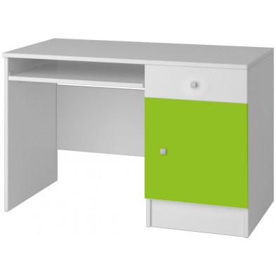 Bureau enfant blanc moderne en panneaux de particules de haute qualité L. 110 x P. 50 x H. 76 cm collection Dynys
