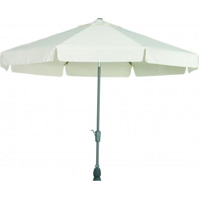 Parasol en aluminium et polyester Ø 300 cm coloris écru collection Giraldo