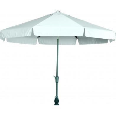 Parasol rond en aluminium et polyester Ø 300 cm coloris gris collection Giraldo