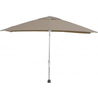 Parasol rectangulaire en aluminium 200 x 300 cm coloris Taupe collection Bexleyheath