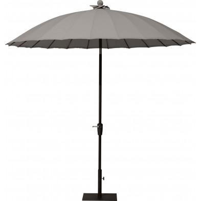 Parasol en aluminium et polyester 250 x 250 cm coloris Taupe collection Bieno
