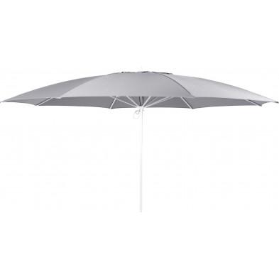 Parasol rond en aluminium Ø 350 cm coloris gris clair collection Santoantonio