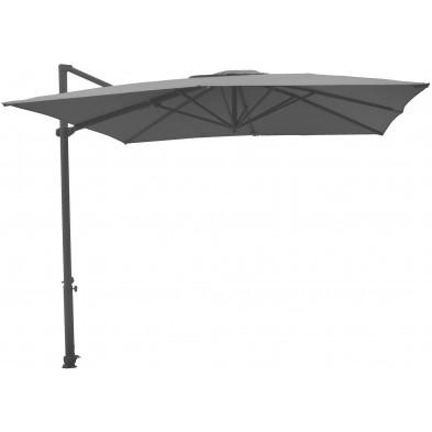 Parasol en aluminium réglable en hauteur Ø 300 cm coloris anthracite collection Premolo