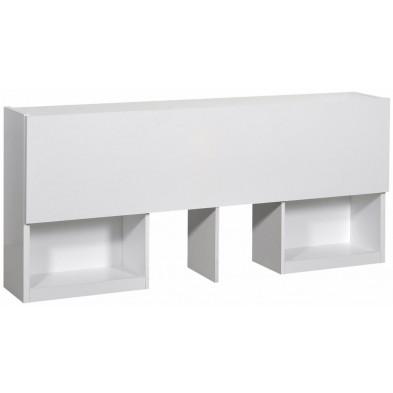 Tête de lit blanc design en panneaux de particules de haute qualité collection Tax