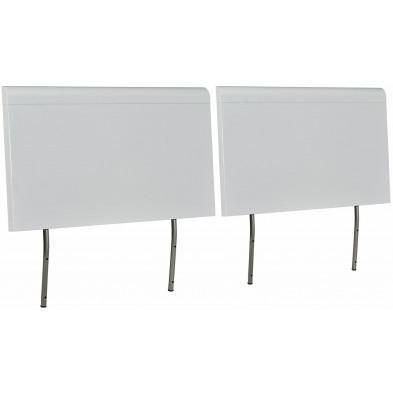 Tête de lit blanc design en panneaux de particules de haute qualité L. 163 x P. 12 x H. 80 cm collection Tax