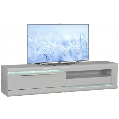 Meuble tv blanc design L. 200 x P. 50 x H. 45 cm collection Lotenhulle