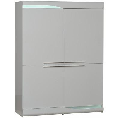 Vitrine blanc design en panneaux de particules de haute qualité L. 120 x P. 46 x H. 160 cm collection Lotenhulle