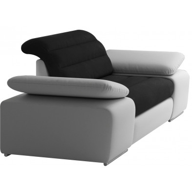 Fauteuils blanc design en acier polyester 1 place L. 204 x P. 95 x H. 86-100 cm collection BERGAMO