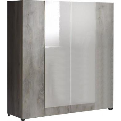 Meuble bar  blanc design en panneaux de particules de haute qualité collection Morher