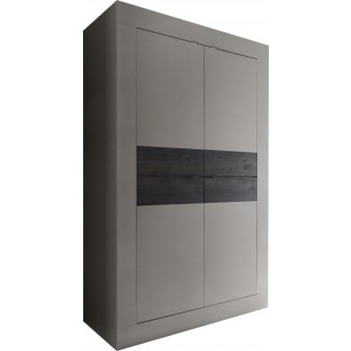 Meuble bar  beige design en panneaux de particules de haute qualité L. 102 x P. 43 x H. 162 cm collection Dow