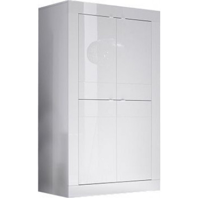 Meuble bar  blanc design en panneaux de particules de haute qualité L. 102 x P. 43 x H. 162 cm collection Dow