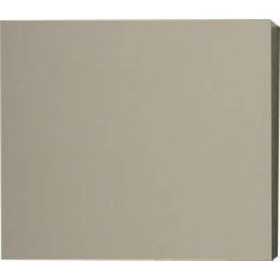 Meuble suspendu Cube design coloris écru laqué en panneaux de particules mélaminés L. 57 x P. 31 x H. 51 cm Collection Mollie