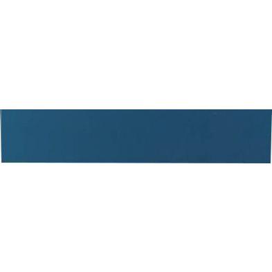 Meuble horizontal suspendu design bleu en panneaux de particules mélaminés L.139 x P. 31 x H. 29 cm  Collection Mollie