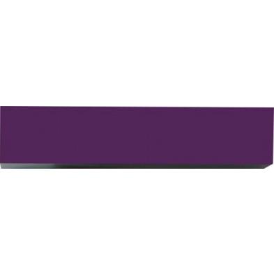 Meuble horizontal suspendu design violet en panneaux de particules mélaminés L. 139 x P. 31 x H. 29 cm  Collection Mollie